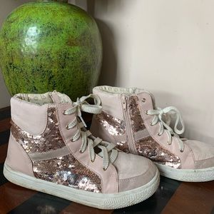 Sequined Sneakers High Tops